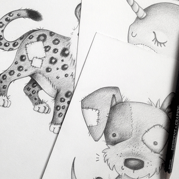 It all started with a Unicorn, but had a go at sketching some boys characters and loved it, and so the story unfolds...