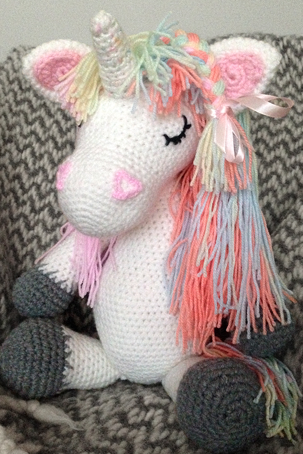 Harper the Unicorn is Rags and Rainbows very first 3D friend, lovingly handmade by Michelle at Pony Fx, see our Friends Section for how to order.