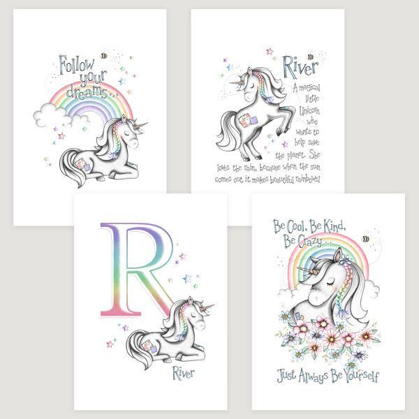 Little Unicorn 4 Set Rainbow