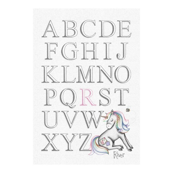 Little Unicorn – Personalised Alphabet Print