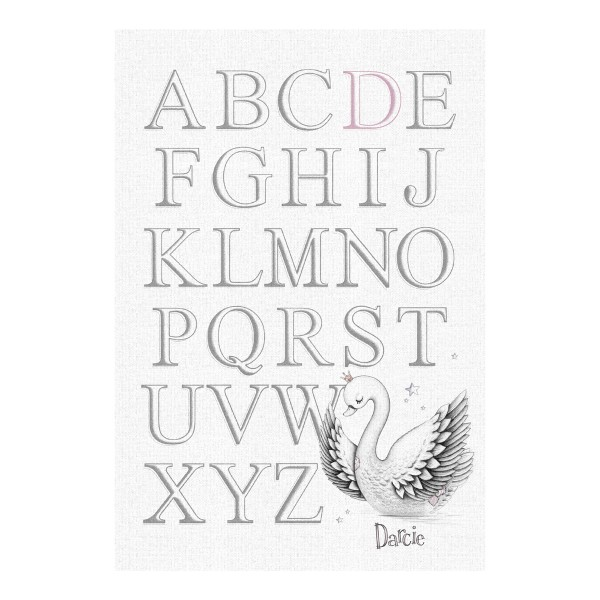 Little Swan – Personalised Alphabet Print