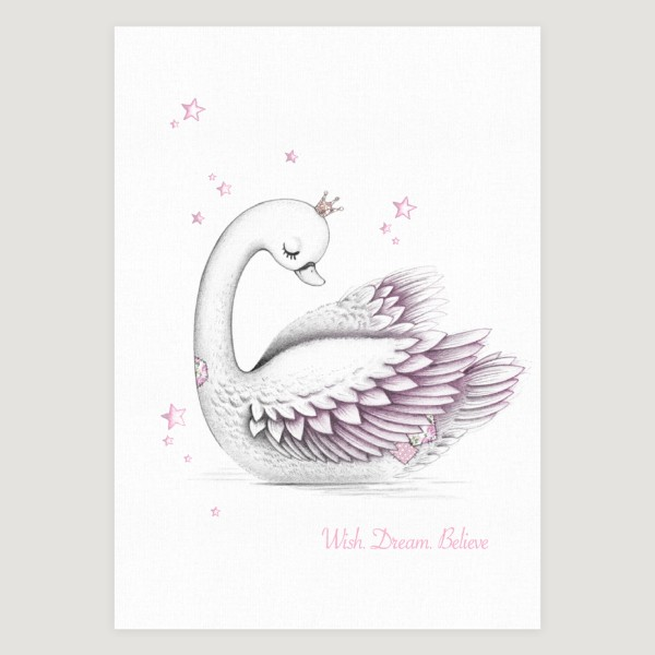 Little Swan Slogan Pink