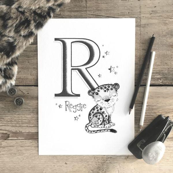 Leopard Initial Mono
