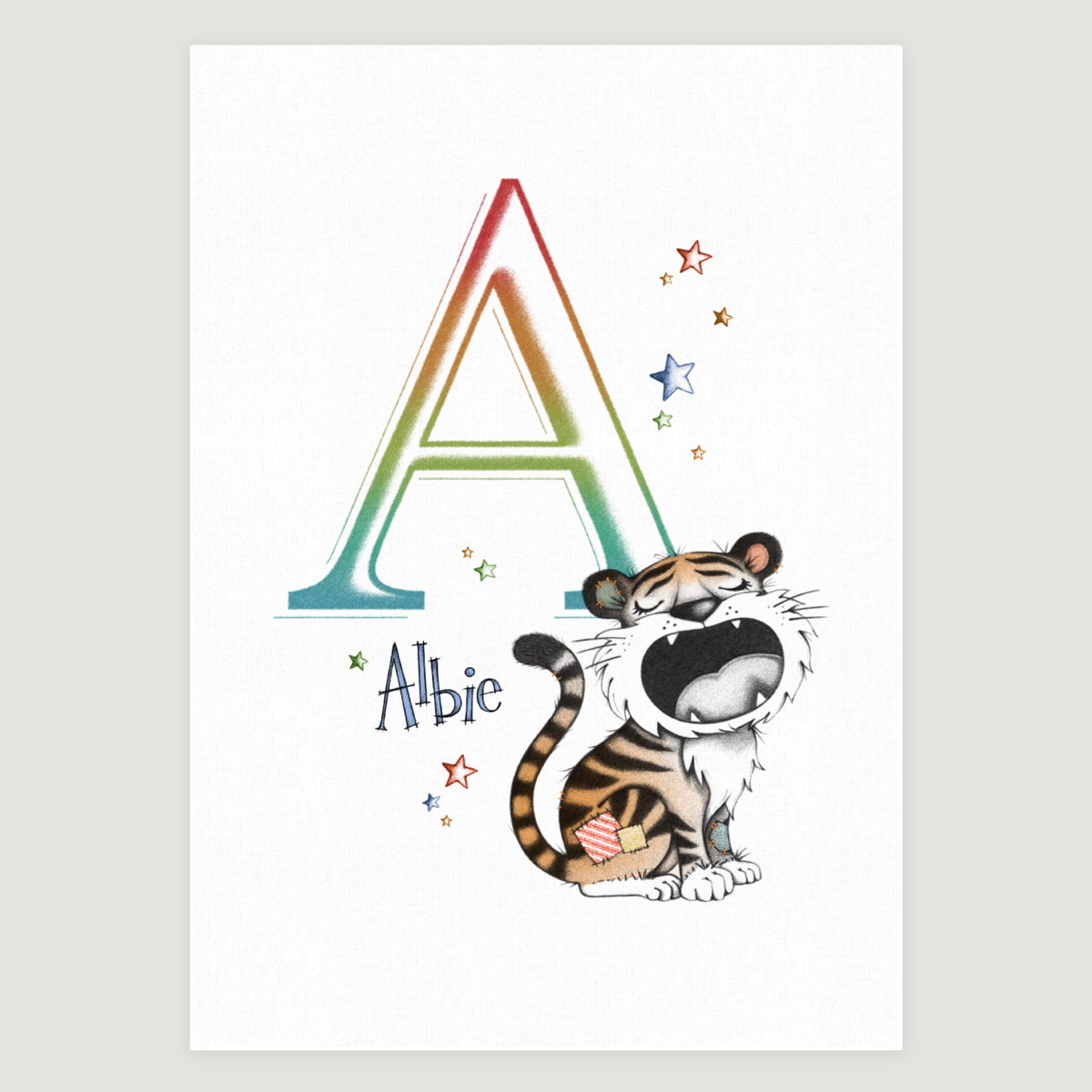 Little Tiger Initial Rainbow