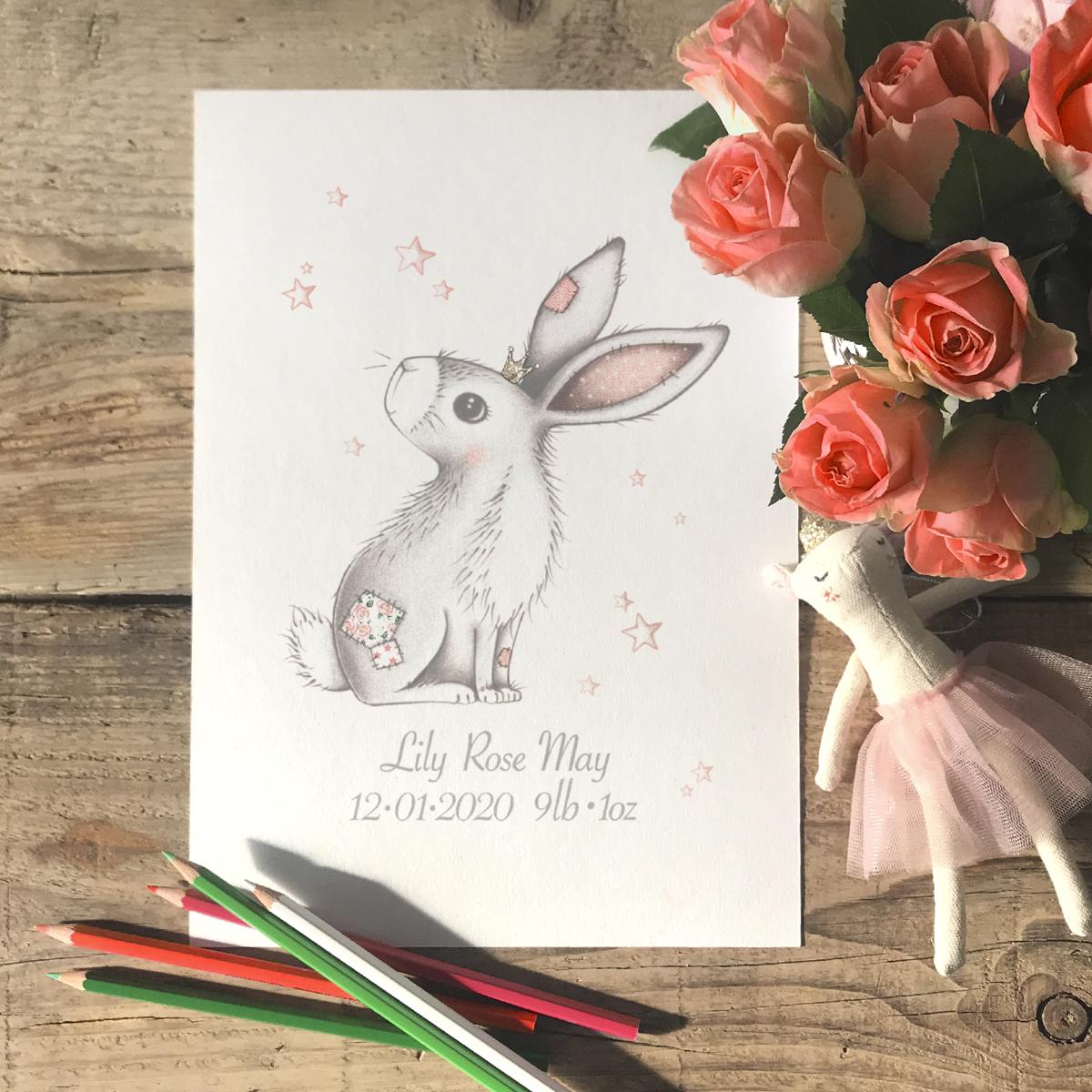 Newborn Bunny Print