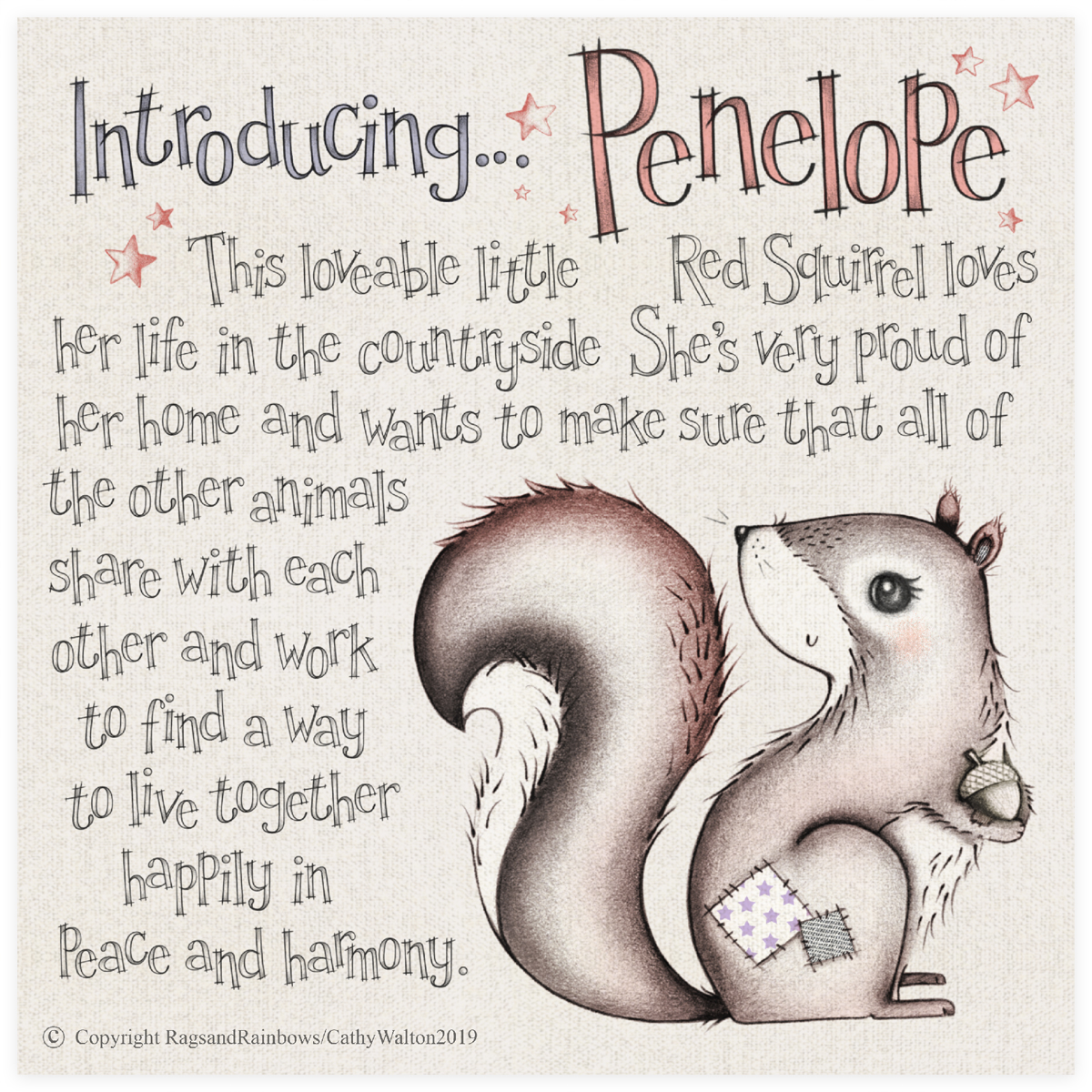 Penelope the Red Squirrel