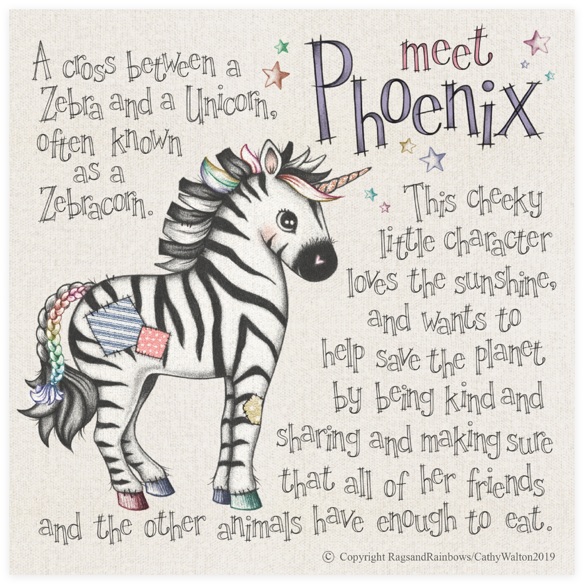 Phoenix the Zebracorn