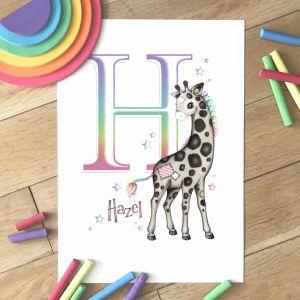 Giraffe Initial Rainbow