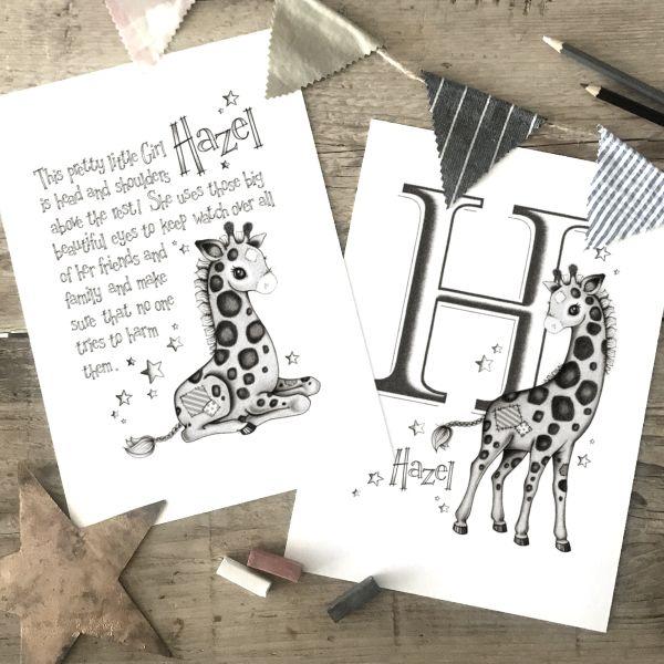 Giraffe set 2 Mono