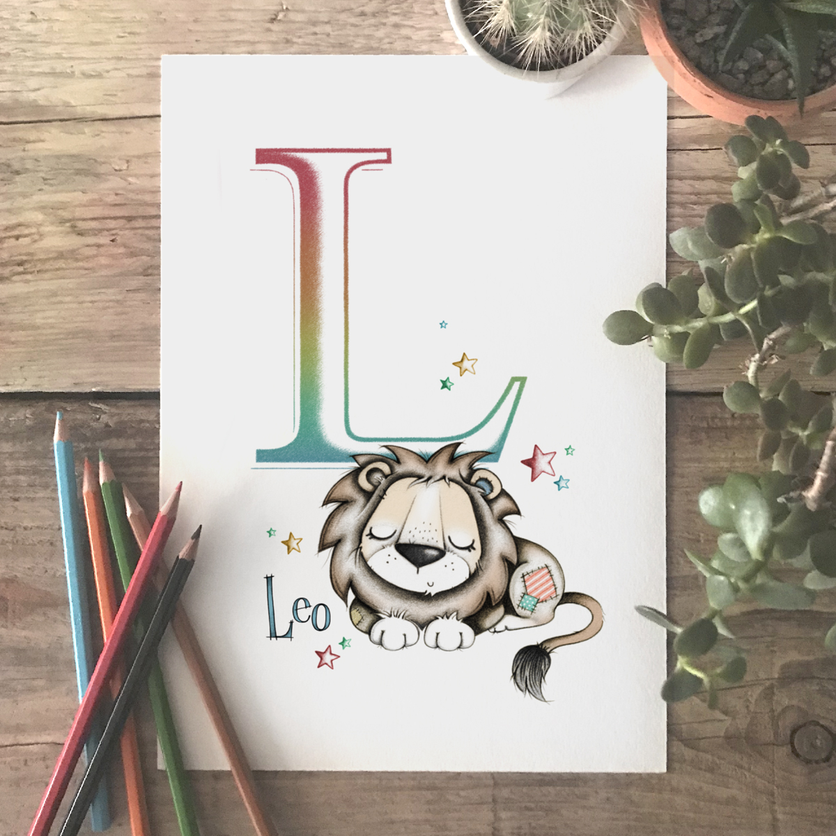 Lion Initial Colour
