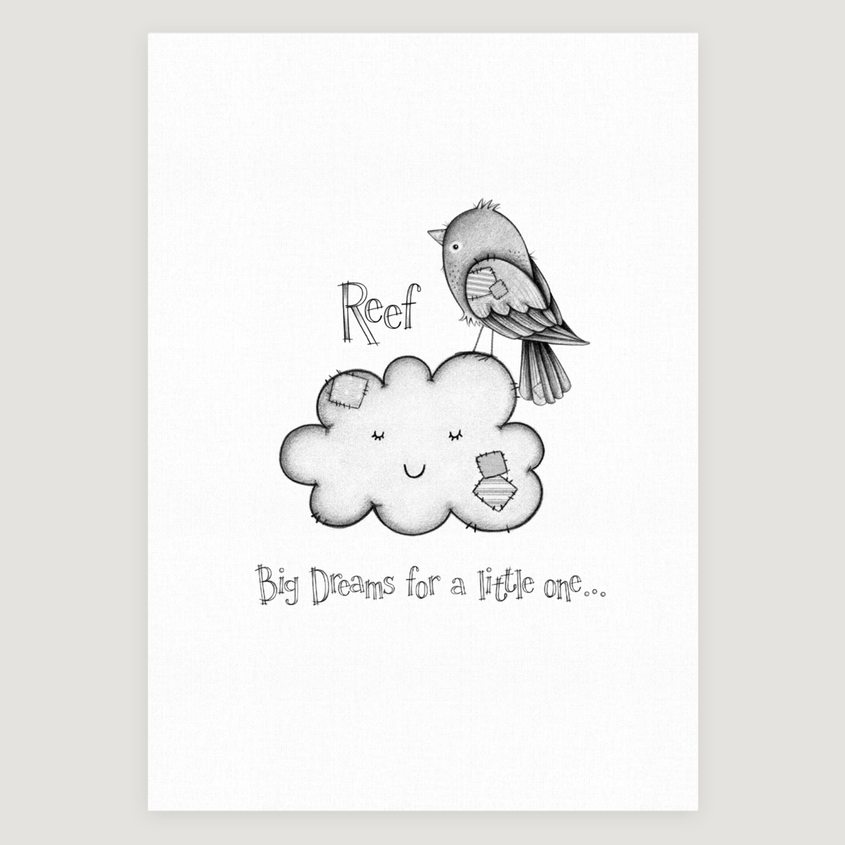 Little Bird Slogan Mono