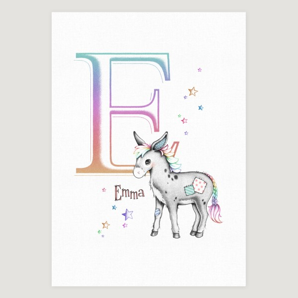 Little Donkey Initial Rainbow