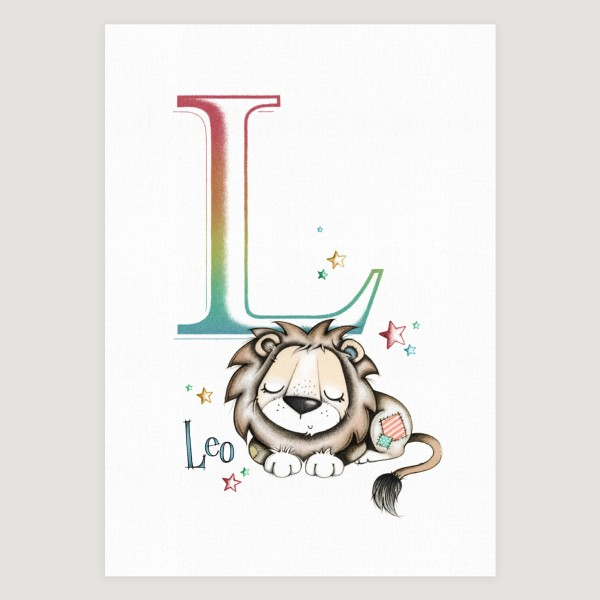 Little Lion Initial Rainbow