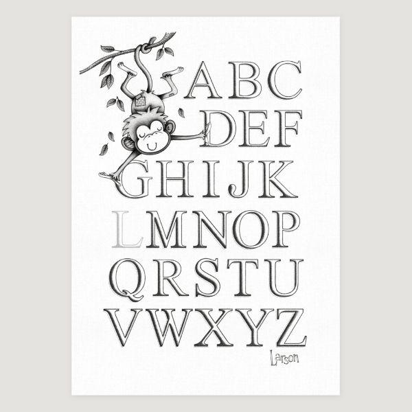 Little Monkey Alphabet Mono