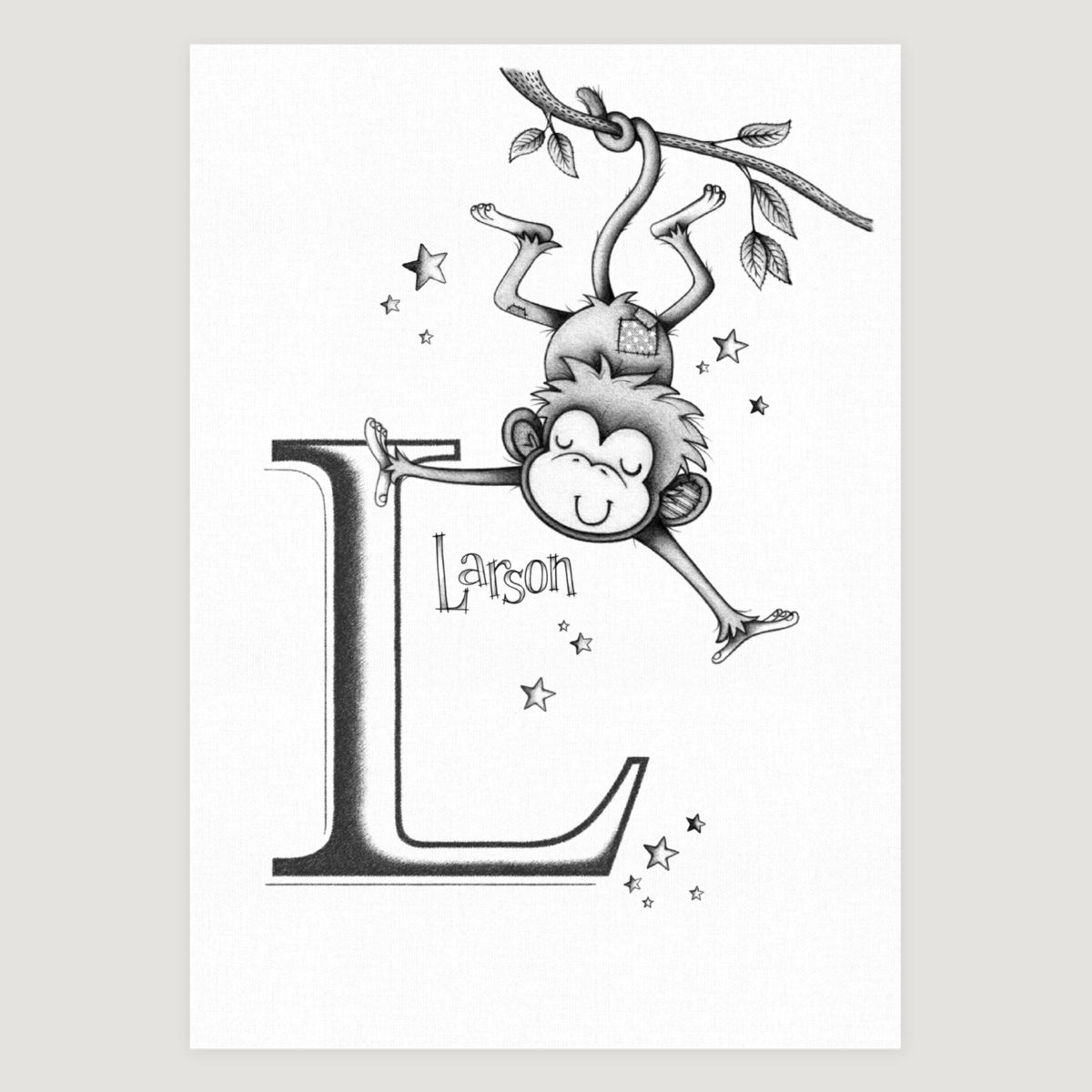 Little Monkey Initial Mono
