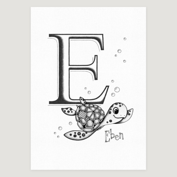Little Sea Turtle Initial Mono