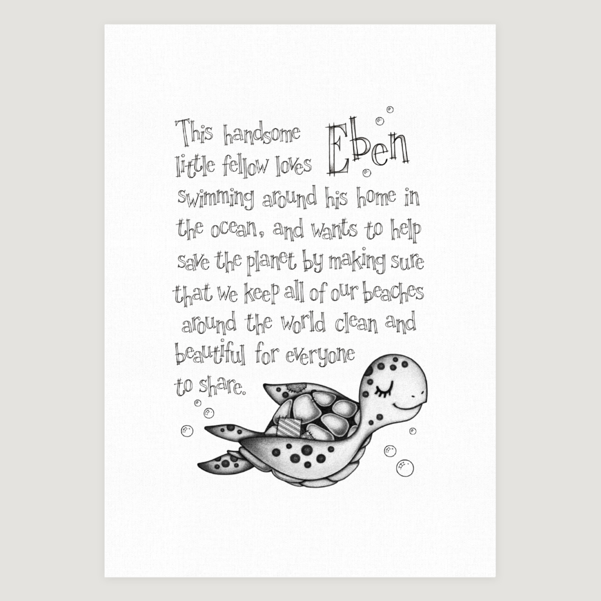 Little Sea Turtle Story Mono