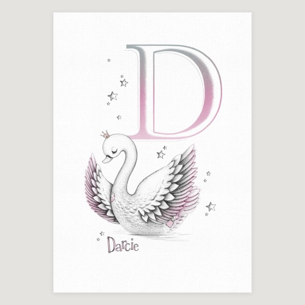 Little Swan Initial Pink