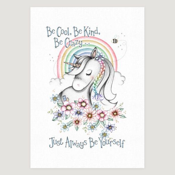 Little Unicorn Be Yourself Rainbow