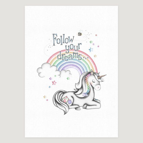 Little Unicorn Dreams Rainbow