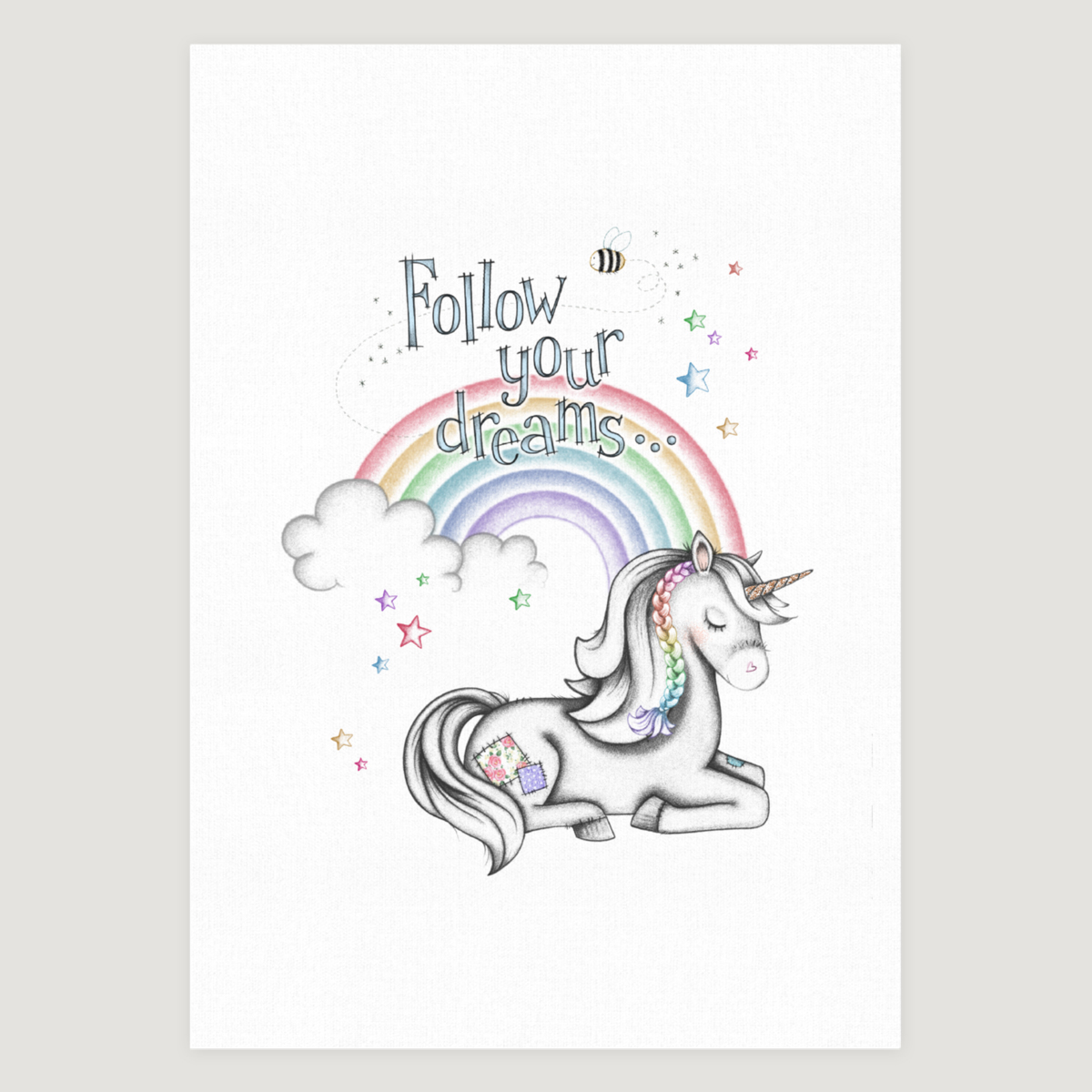 Little Unicorn Dreams Rainbow