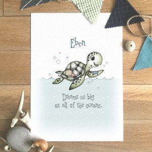 Sea Turtle Slogan Colour