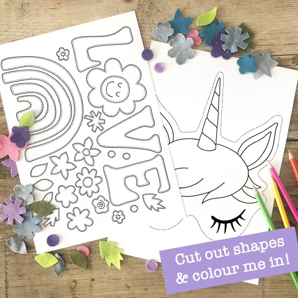 Cut Colour and Make Unicorn