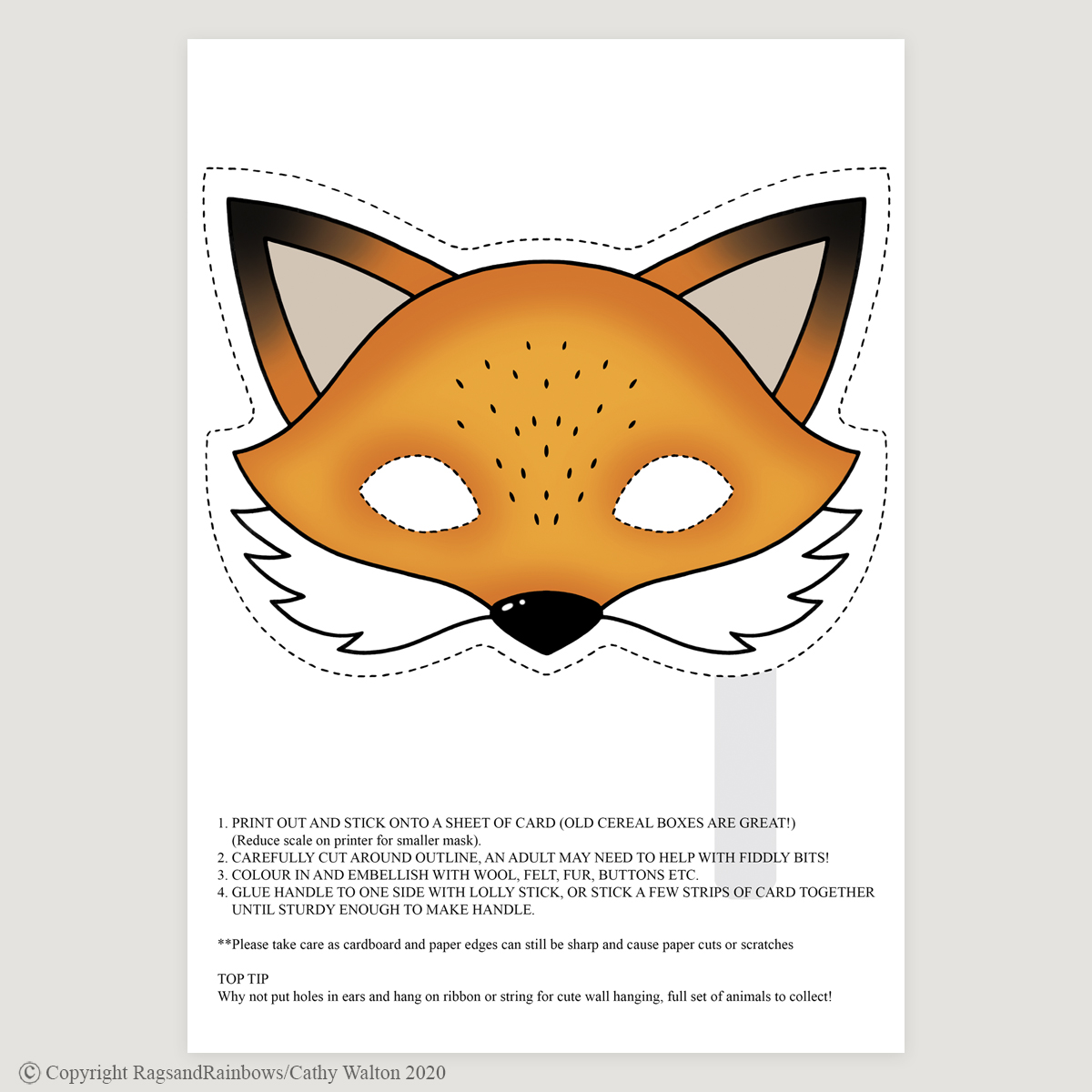 Fox mask colour