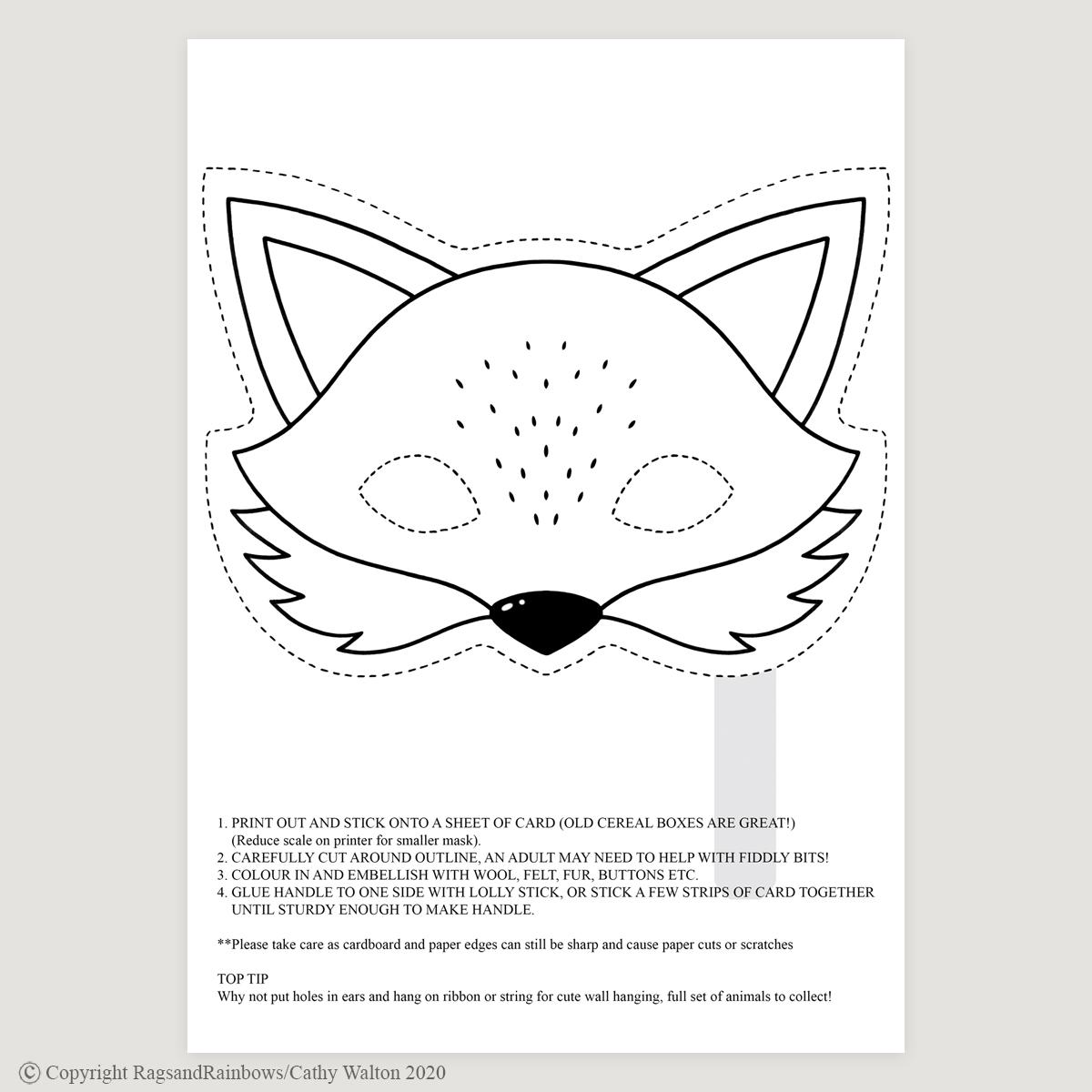 Fox mask mono