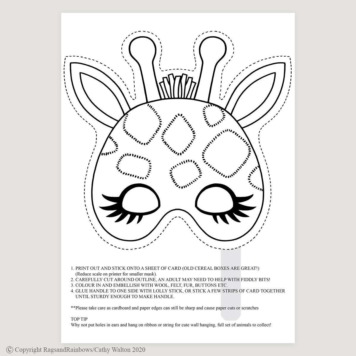 Giraffe mask mono