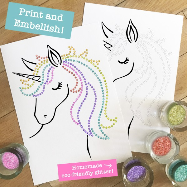 Homemade Eco glitter Unicorn