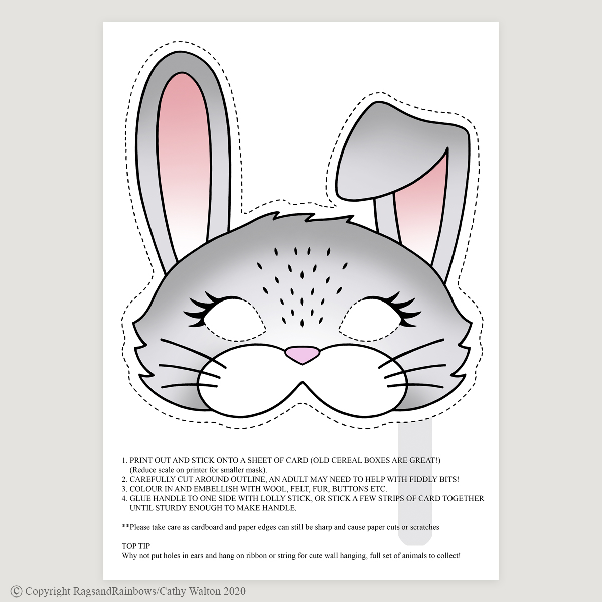 Rabbit mask colour