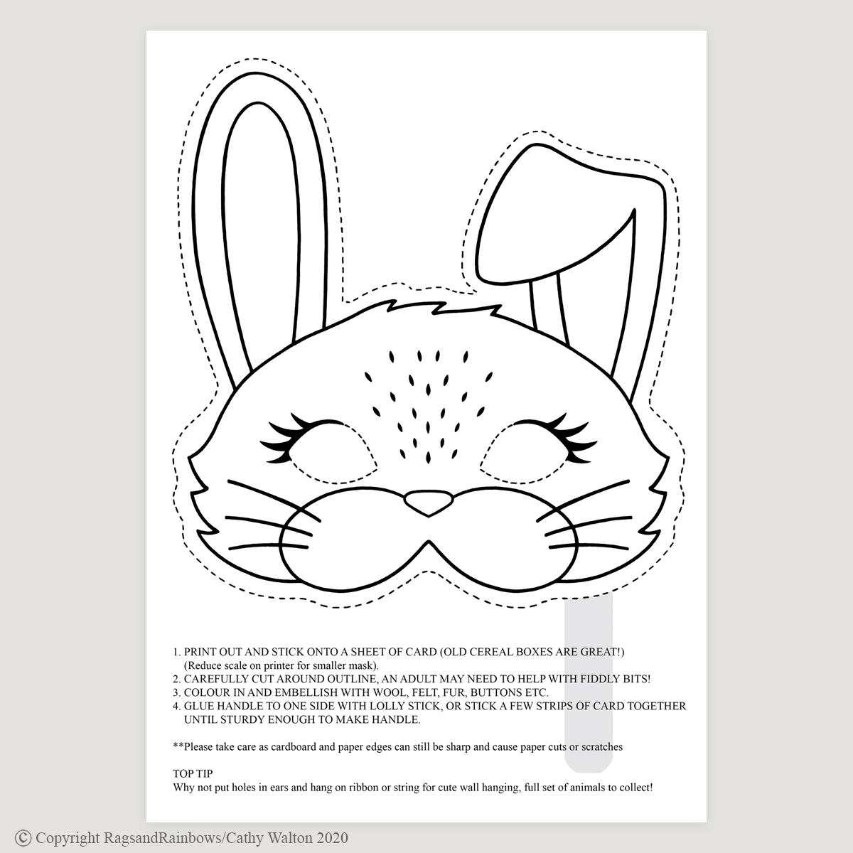 Rabbit mask mono