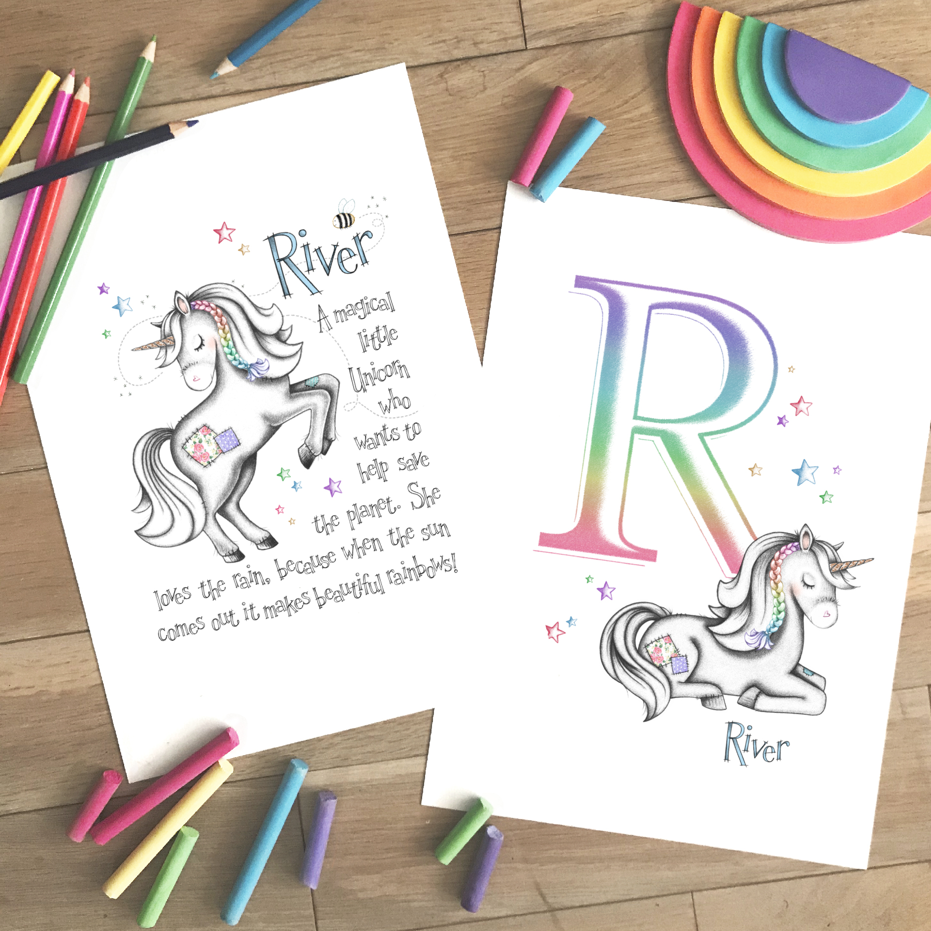 Unicorn Set 2 Rainbow