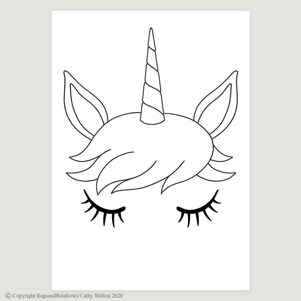 Unicorn floral crown poster
