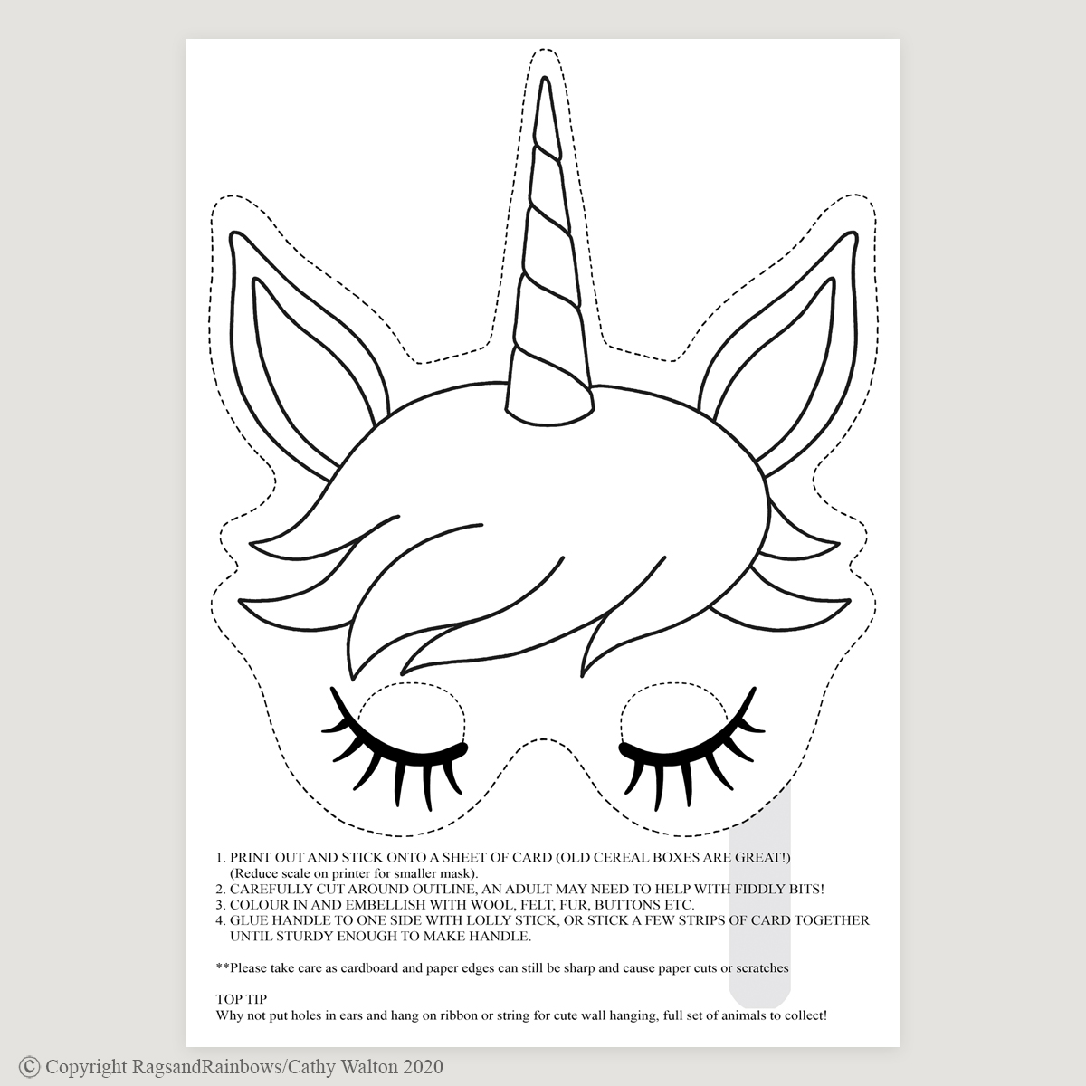 Unicorn mask mono