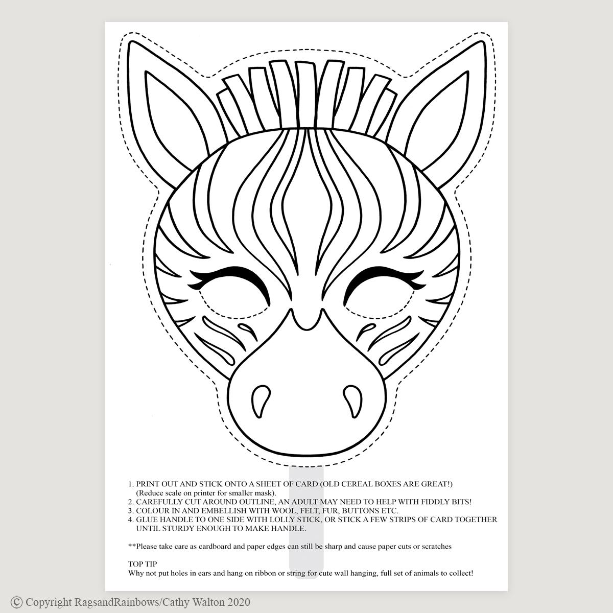 Zebra mask mono