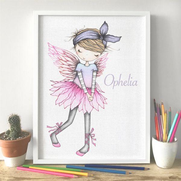 hand clasp fairy framed