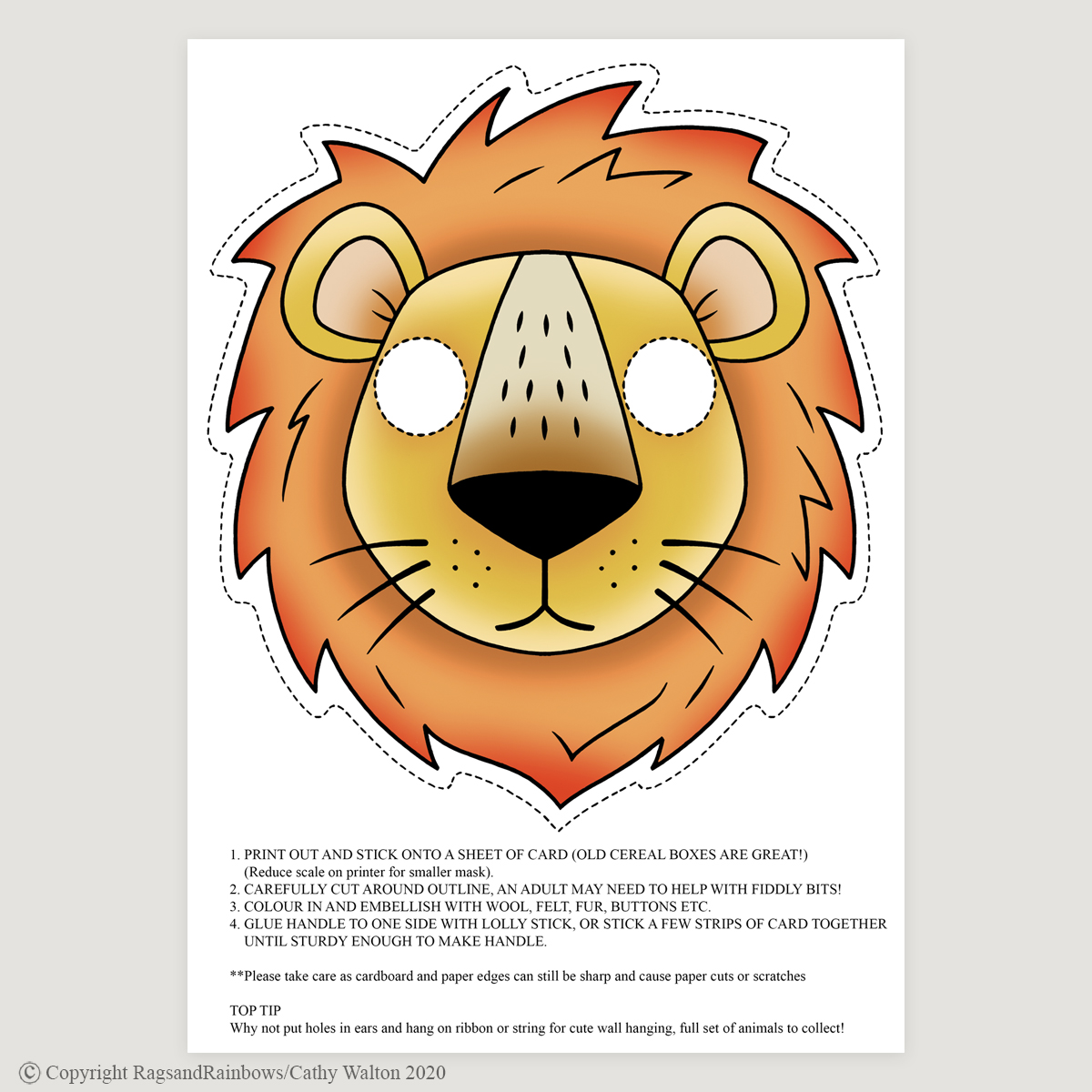 lion mask colour