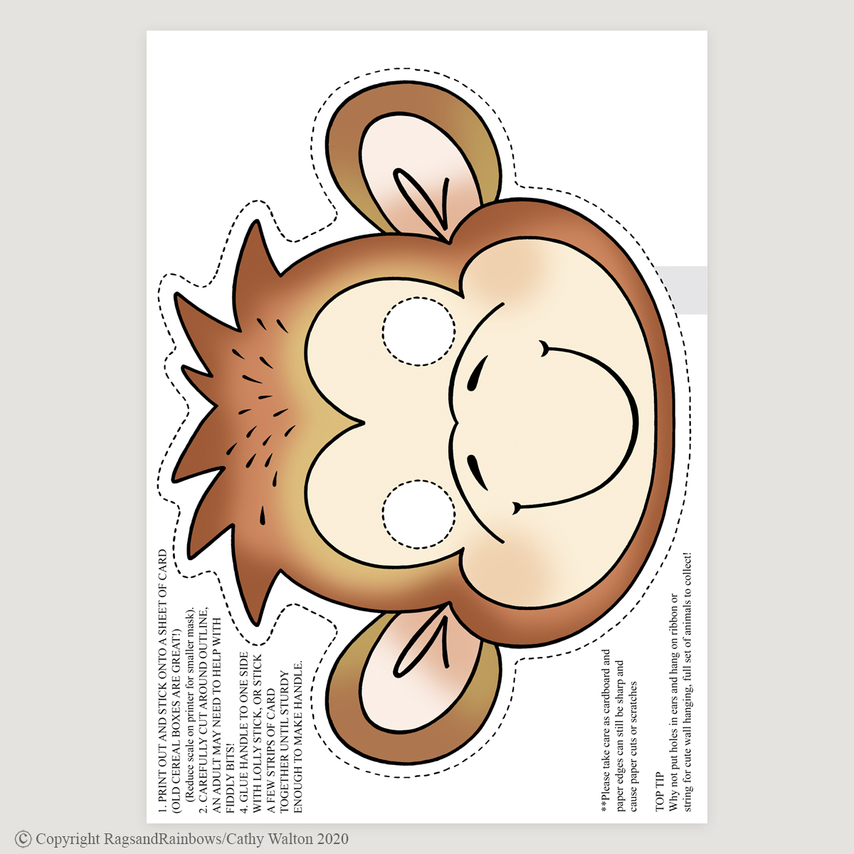 monkey mask colour
