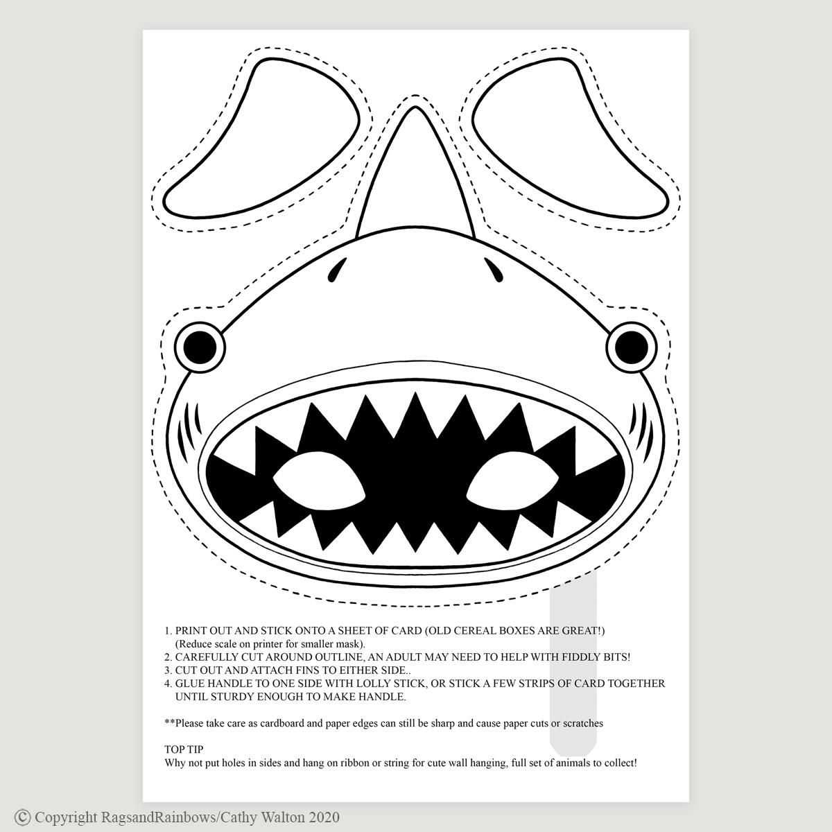 shark mask mono