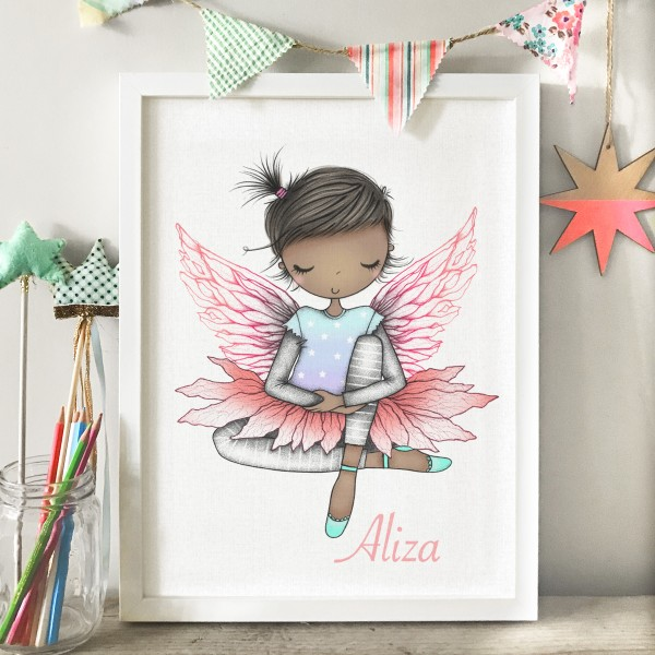 Fairy sitting in frame