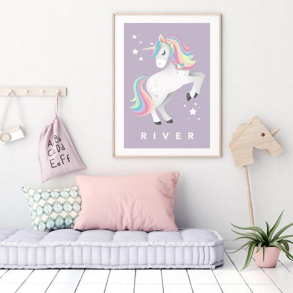 Unicorn framed lilac