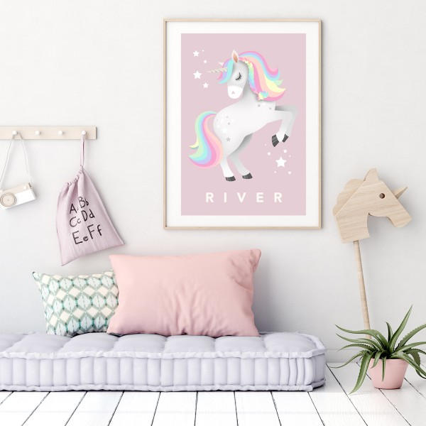 Unicorn framed pink