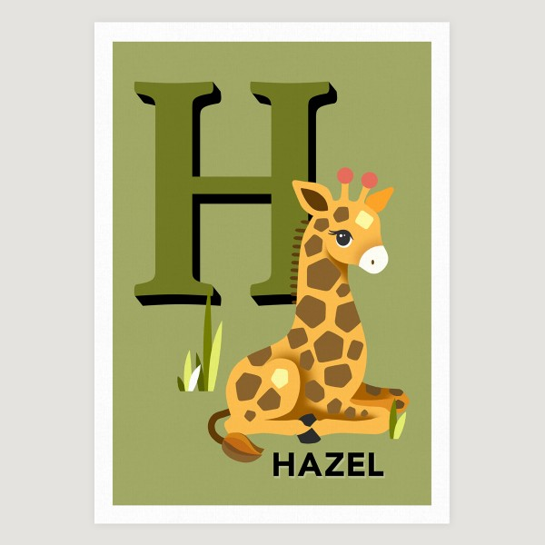 Giraffe initial khaki