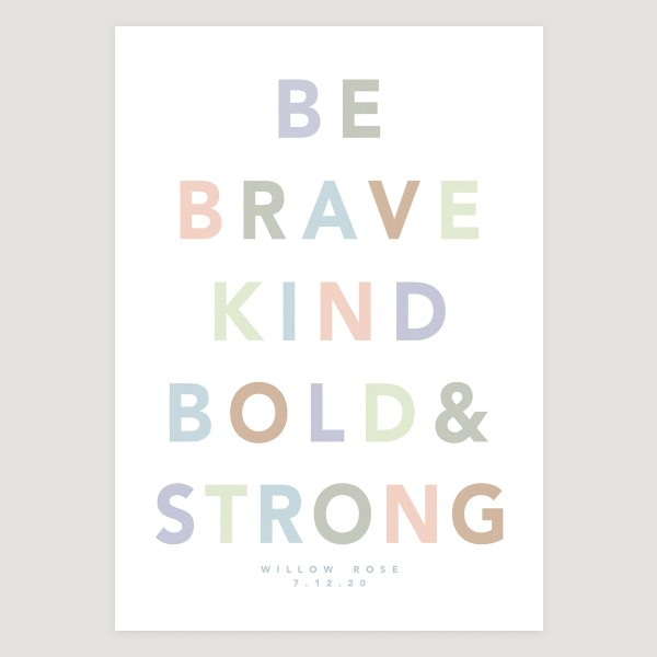 Be Brave bold slogan white