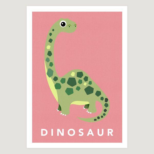 Dinosaur pastel pink