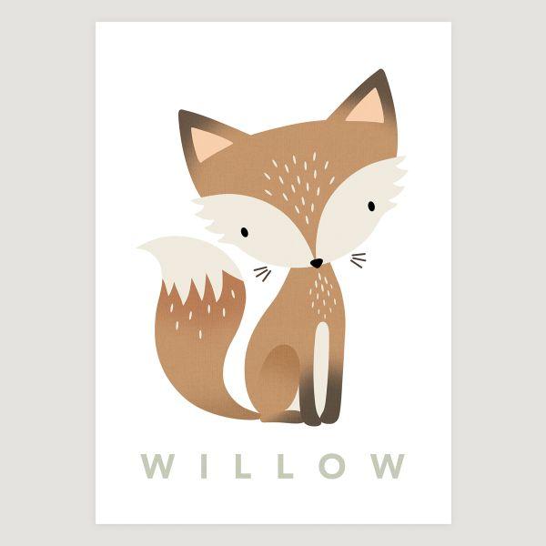Fox pastel white