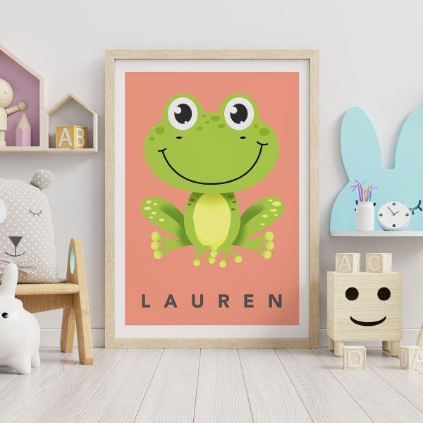 Frog coral framed