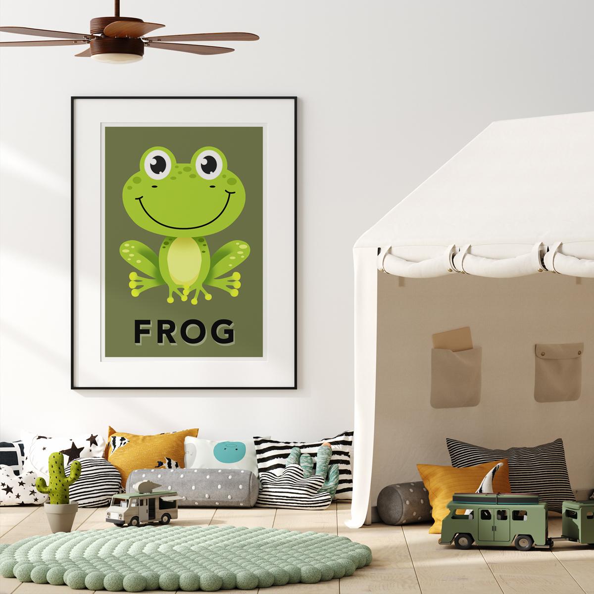 Frog khaki framed